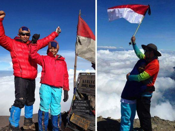 Rekor Baru Pendaki Ayah dan Anak pertama Menuntaskan 7 Summits Indonesia